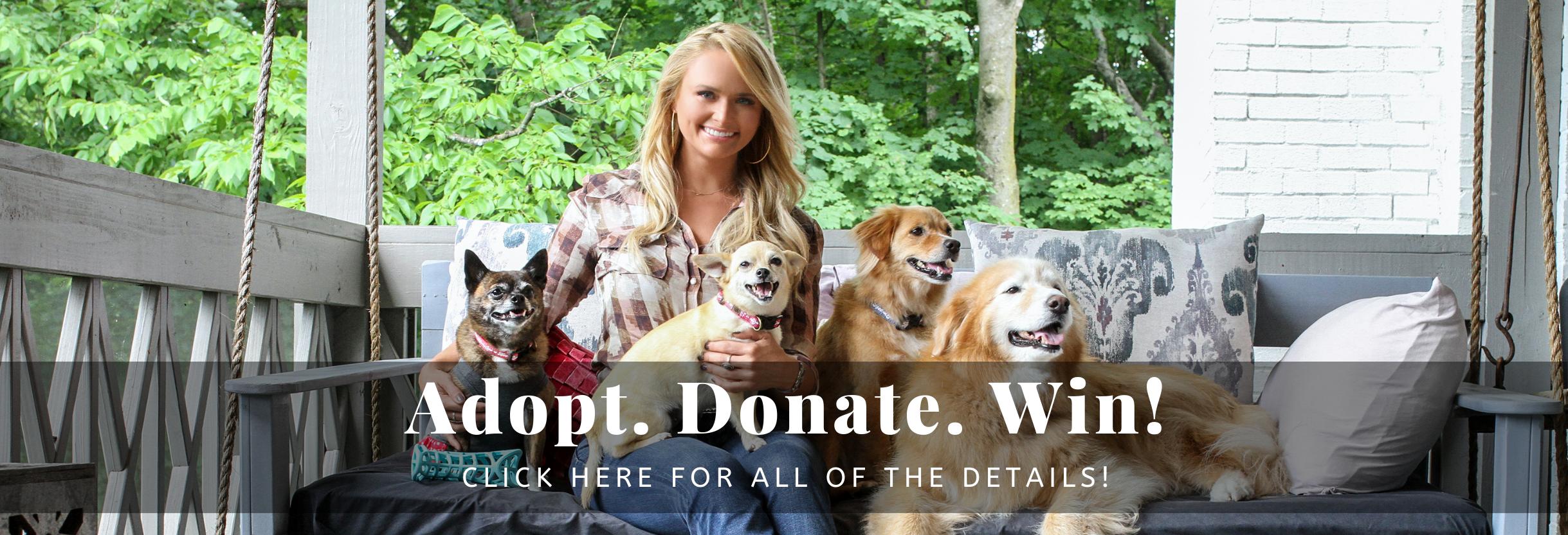 Adopt. Donate. Win